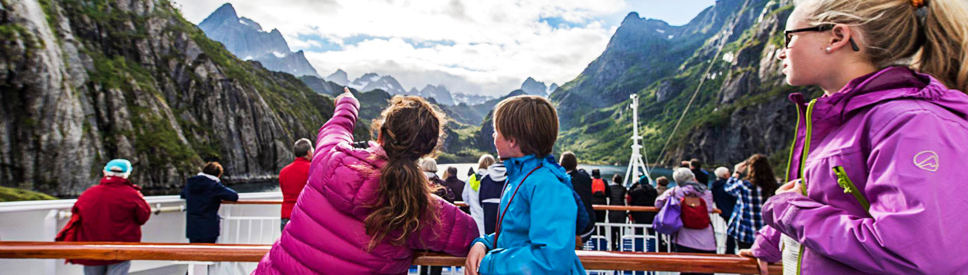 Cruising the Norwegian fjords on board the Hurtigruten ship