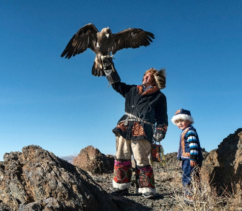 Mongolia eagle-hunting